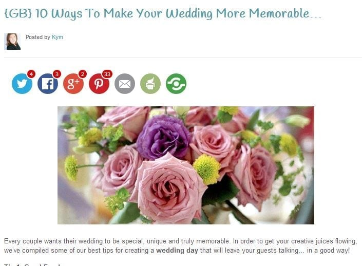 10 ways to make your wedding more memorable