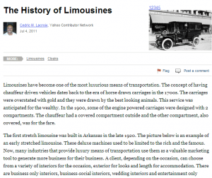 Limousine History: The First Ever Fancy Limo Service