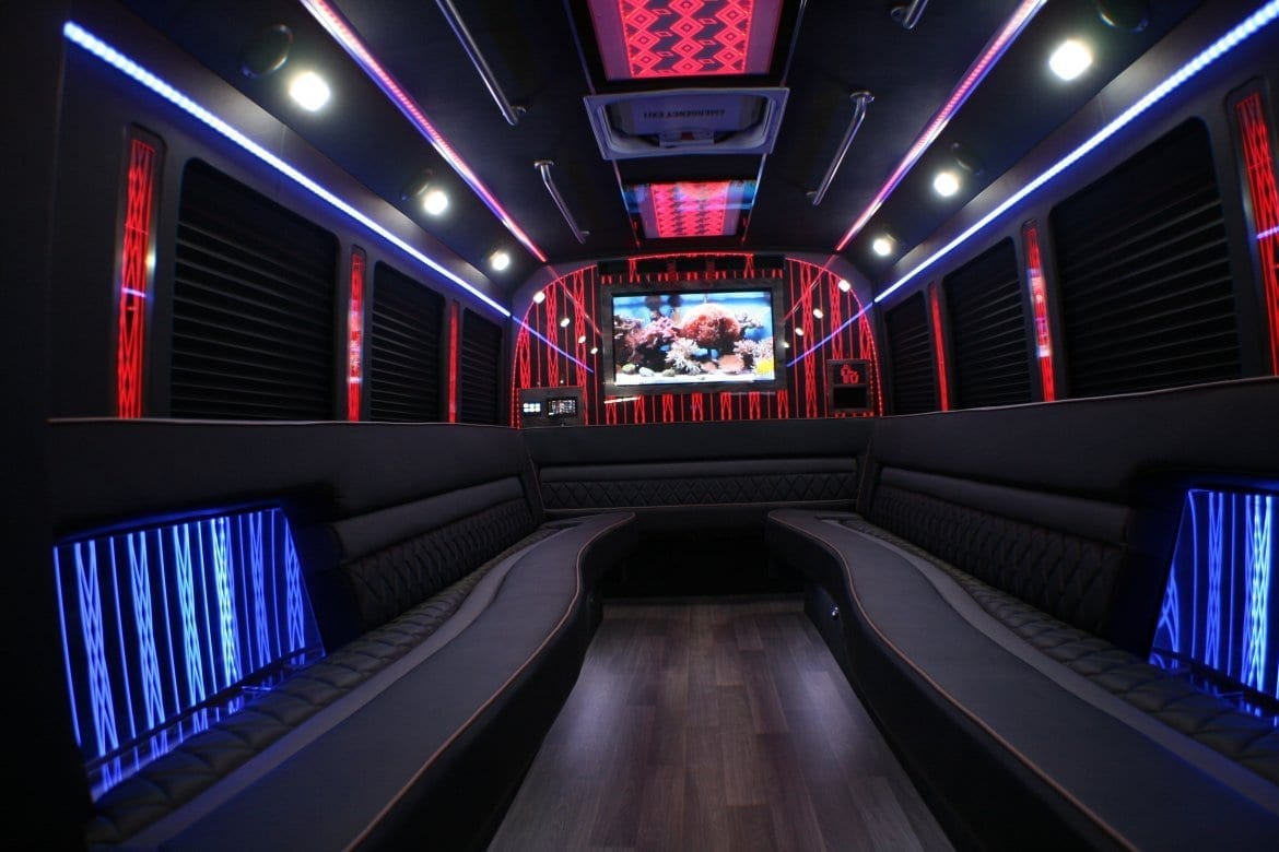 Party Bus Rental Interior Indianapolis